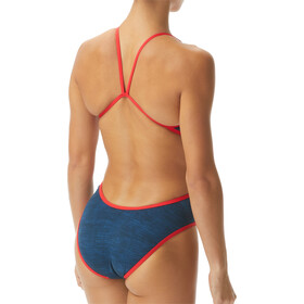 TYR Sandblasted Traje de Baño Monofit Mujer, azul